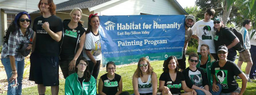 SVRG helps paint a senior citizen's home through Habitat for Humanity on June 20, 2015.